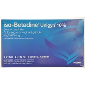 Iso Betadine Unigyn 5 Monodos+5canul